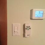 Bedroom Lights and Fan