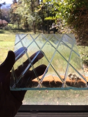 Lamp post light glass 2