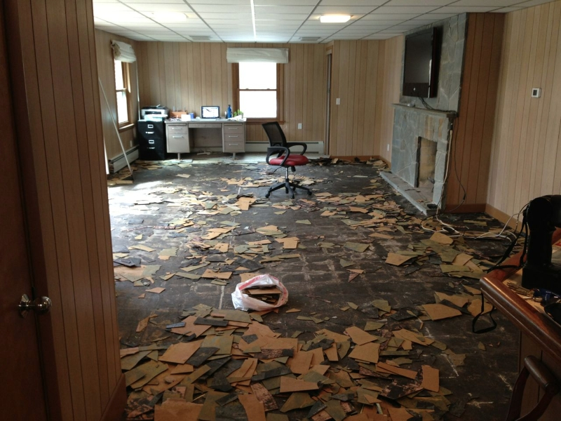 Family Room Before And After The House On Rynkus Hill. Asbestos Floor Tiles Danger Fresh In Chic Asos Broken Dangers For
