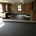Laying out new carpet