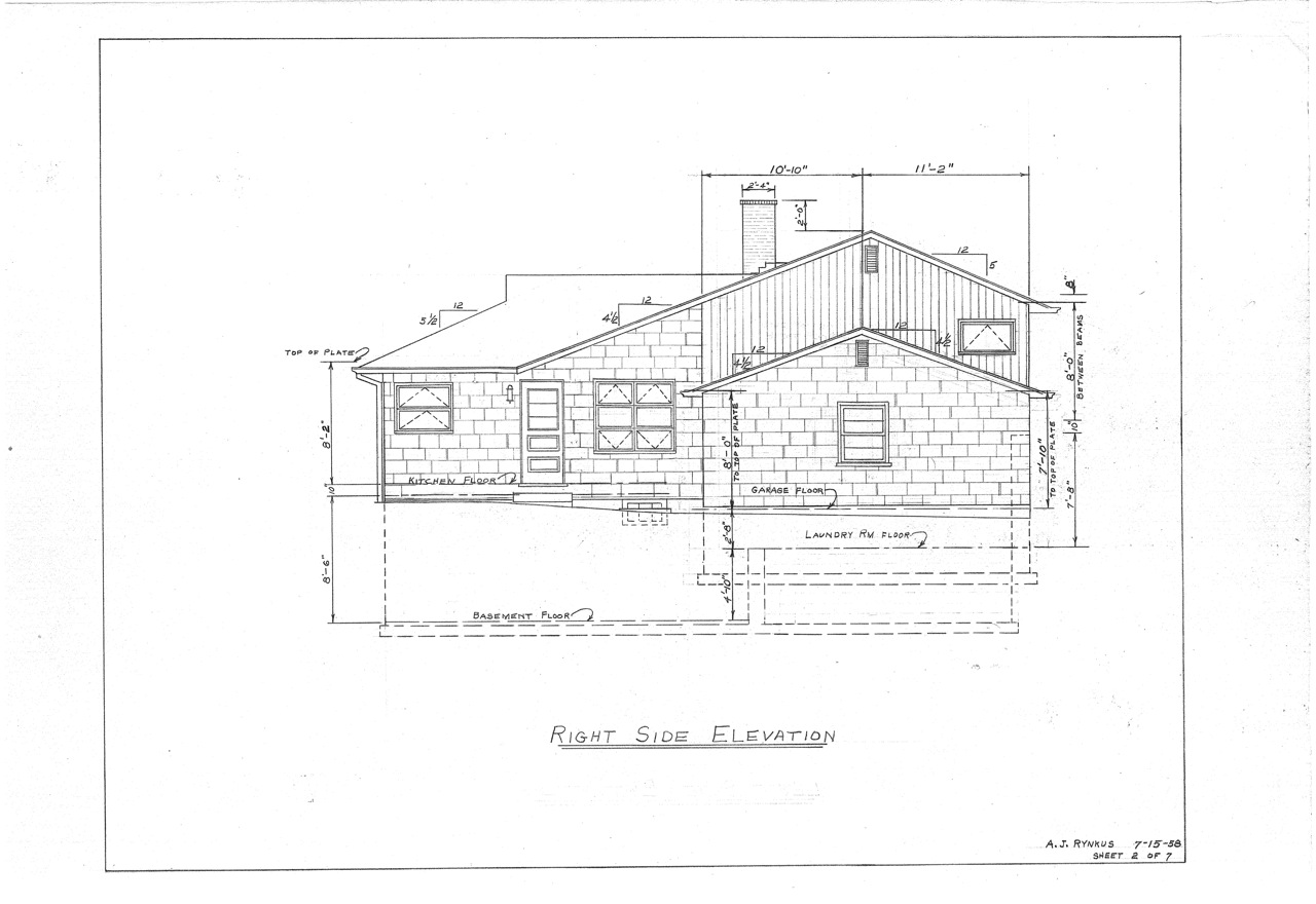 Our mid century split level house plans the house on for Side split house designs