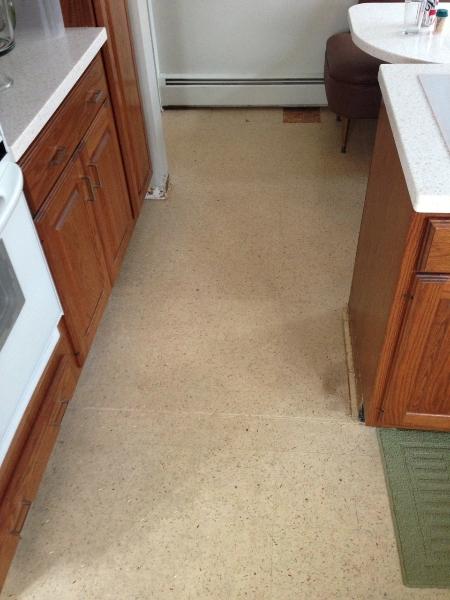 Adventures in mid century modern kitchen flooring the for Mid century modern flooring