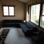 After getting the reupholstered couch back