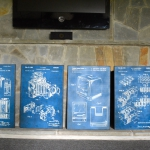 The set of completed plaque mounted prints