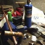 Constructing new piping